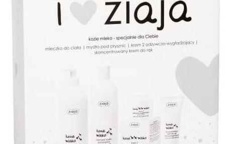 Ziaja Goat´s Milk dárková kazeta pro ženy krémové sprchové mýdlo 500 ml + tělové mléko 400 ml + denní pleťová péče 50 ml + krém na ruce 50 ml
