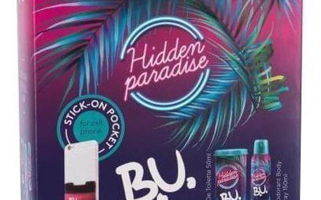 B.U. Hidden Paradise dárková kazeta pro ženy toaletní voda 50 ml + deodorant 150 ml + samolepka na mobil 1 ks