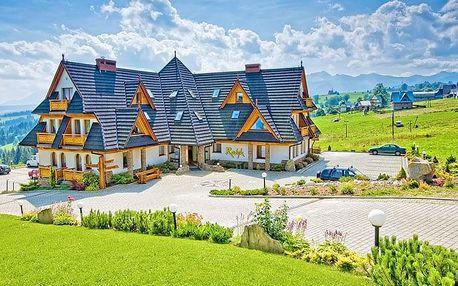 Polské Tatry v hotelu s polopenzí, neomezeným SPA + zapůjčení kol a holí na Nordic walking
