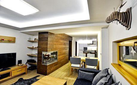 Ubytování přímo na sjezdovce v nejluxusnějším horském wellness apartmánu v ČR