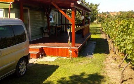 Dolní Věstonice: Mobilhome mezi vinohrady nedaleko vodní nádrže Nové Mlýny