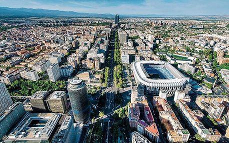 Španělsko - Madrid letecky na 4-5 dnů, snídaně v ceně