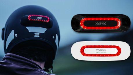 Bezpečnostní brzdové světlo na motorkářskou helmu
