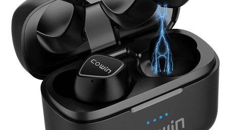 Bezdrátová sluchátka Cowin KY02 s dobíjecím boxem - černá