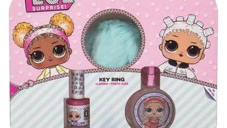 EP Line LOL Surprise dárková kazeta pro děti toaletní voda 30 ml + lak na nehty 10 ml + klíčenka