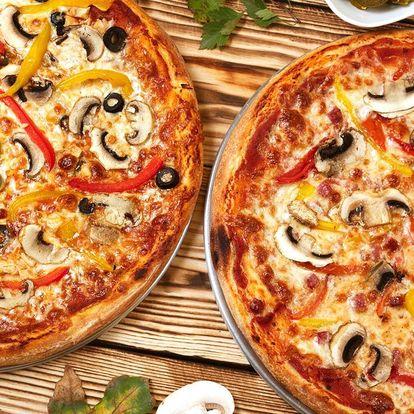 2 nebo rovnou 4 křupavé pizzy podle výběru