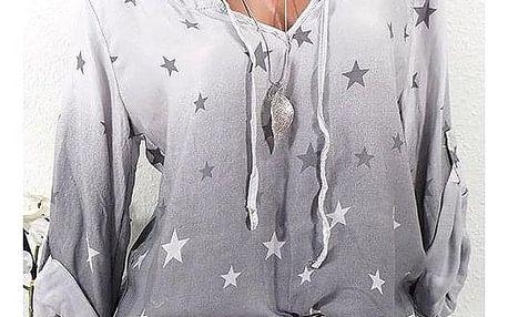 Dámská košile s hvězdičkami - dodání do 2 dnů