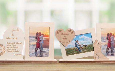 Rámečky pro zamilované: dřevěné dekorace i text