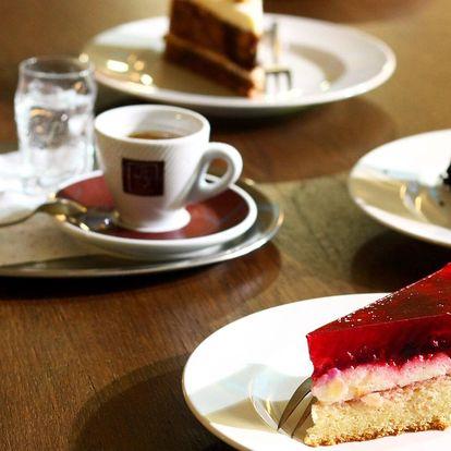 Káva a zákusek podle výběru pro jednoho i dva