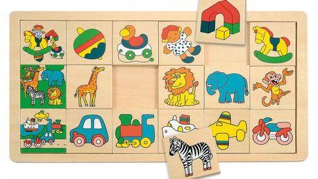 "Hra Woody ""Žirafa Suzie"" Přilož kam co patří (3x6)"