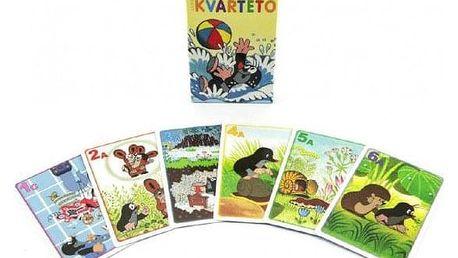 Krtek 1 Kvarteto společenská hra - karty v papírové krabičce 6x9cm