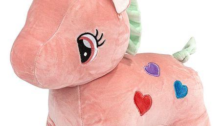 Plyšová hračka Jednorožec růžová, 40 cm