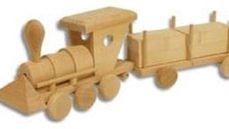 Dřevěná hračka vláček AD103