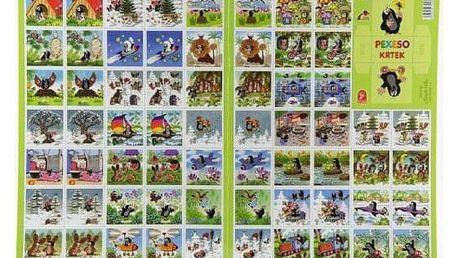 Krtek Pexeso papírové společenská hra 32 obrázkových dvojic 22x30cm