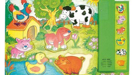 "Hračka Woody Muzikální puzzle zelené ""Zvířátka"""