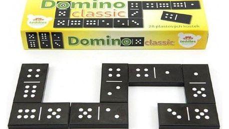 Classic Domino 28ks společenská hra plast v krabičce 21x6x3cm