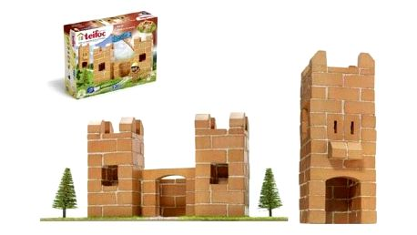 Teifoc Hrádek Stavebnice v krabici 35x30x5cm