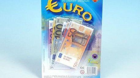 Eura peníze do hry na kartě 15x16cm