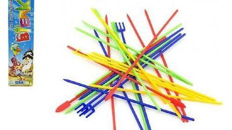 Mikádo společenská hra plast 2v krabičce 18x4,5x1,5cm