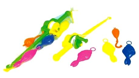 Hra ryby/rybář plast 3ks+prut asst 2 barvy v síťce