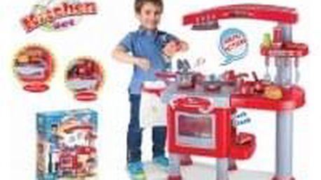 Hračka G21 Dětská kuchyňka velká s příslušenstvím červená