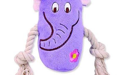 Hračka TRIXIE zvíře plyšové s lanem 13 cm 1ks