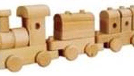 Dřevěná hračka vláček AD116