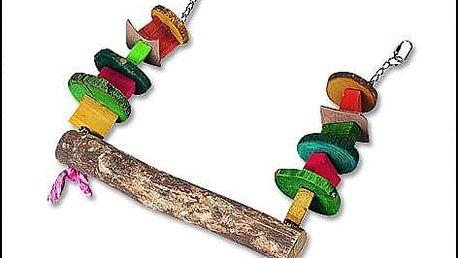 Hračka FLAMINGO žebřík s kuličkami dřevěný 1ks