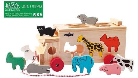 Hračka Woody Kamion s vkládacími tvary - zvířátka
