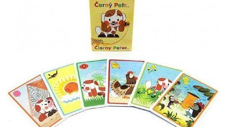 Štěňátko Černý Petr společenská hra - karty v papírové krabičce