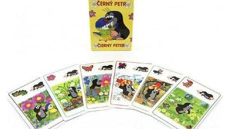 Černý Petr Krtek a sýkorka hra - karty v papírové krabičce 6x9cm
