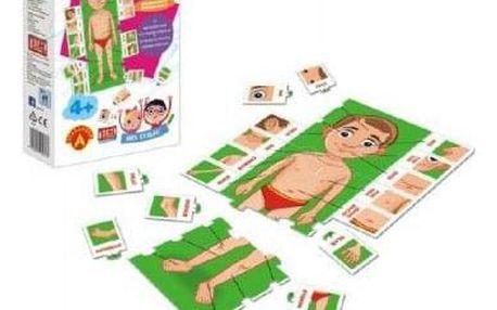 Hra školou® Skládej lidské tělo kreativní a naučná hra v krabici 16x24+