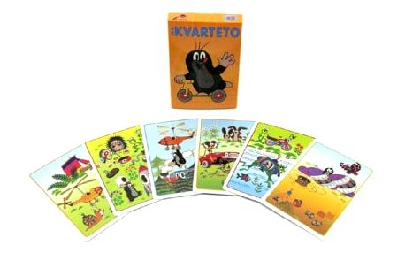Krtek 2 Kvarteto společenská hra - karty v papírové krabičce 6x9cm