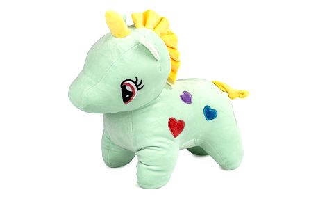 Plyšová hračka Jednorožec zelená, 40 cm