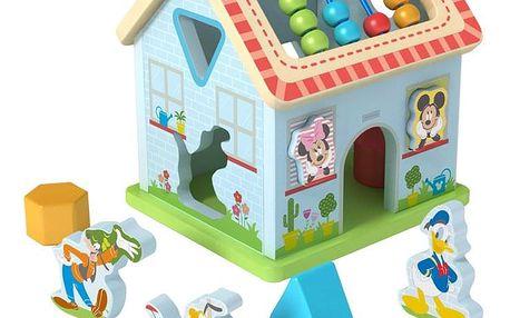 Hračka Derrson Disney Dřevěný motorický domeček Mickeyho svět