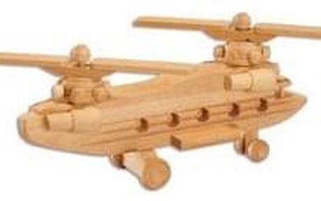 Dřevěná hračka vrtulník AD101