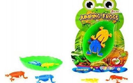 Skákající žáby společenská hra plast na kartě