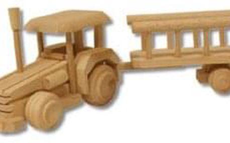 Dřevěná hračka traktor AD102