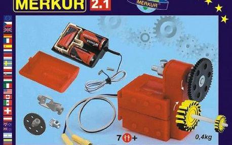 MERKUR 2.1 Stavebnice Elektromotorek v krabici 26x18x5cm