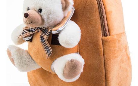 Hračka G21 Batoh s plyšovým medvídkem 2v1, hnědý
