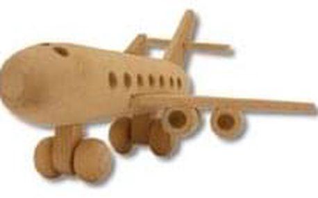 Dřevěná hračka letadlo AD109