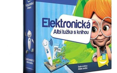 Kniha Albi elektronická tužka s atlasem světa