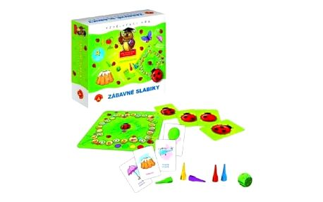 Teddies 48780 Zábavné slabiky vzdělávací společenská hra v krabici 19,5x18,5x5cm