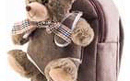 Hračka G21 Batoh s plyšovým medvídkem, hnědý