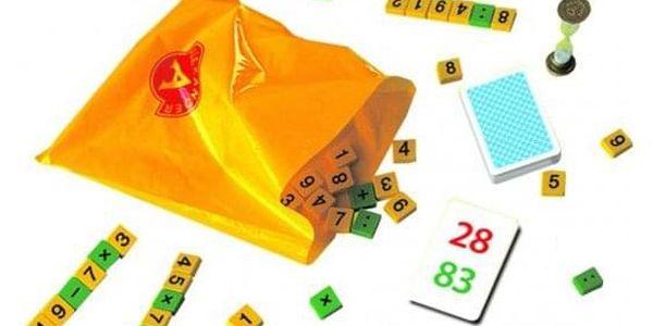 Supermatematik společenská hra naučná v krabici 29x19cm2