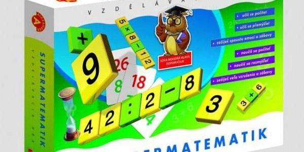 Supermatematik společenská hra naučná v krabici 29x19cm4
