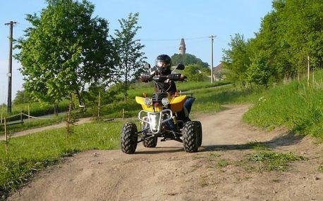 30 min. jízdy na čtyřkolce pro děti i dospělé