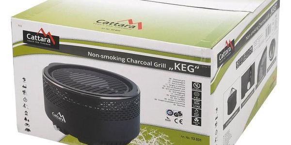 Cattara KEG Gril stolní na dřevěné uhlí4