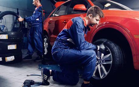 Diagnostika auta i kompletní přezutí pneumatik