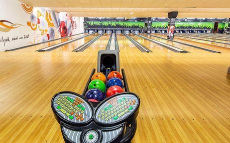 1 nebo 2 hodiny bowlingu až pro 8 hráčů